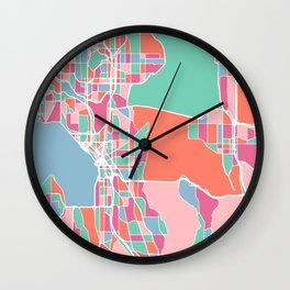 Seattle City Map Wall Clock