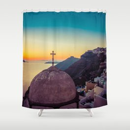 Adorable Santorini Shower Curtain