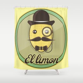 El Limon - casual hypster lemon Shower Curtain