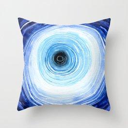 Tree Ring - Indigo Throw Pillow
