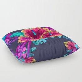 Tropical Flowers Floor Pillow