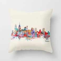 Philadelphia Pennsylvania skyline Throw Pillow
