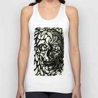 david Tank Tops featuring Skull by Ali GULEC