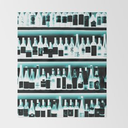 Wine Bottles - version 2 #decor #buyart #society6 Throw Blanket