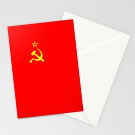 ussr cccp russia soviet union communist flag Stationery Cards