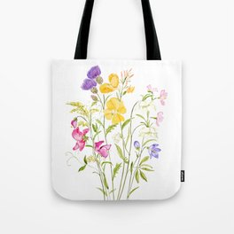 yellow pink white and  purple windflowers 2020 Tote Bag