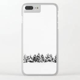 Tree Line Up Clear iPhone Case