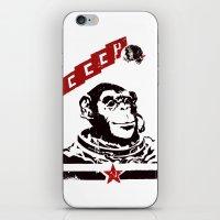 soviet iPhone & iPod Skins featuring Soviet Space Monkey by Chris Kawagiwa