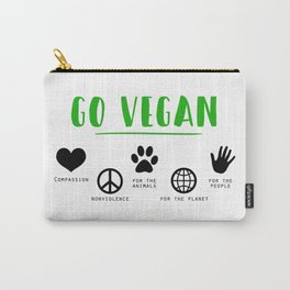 Go Vegan Carry-All Pouch
