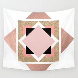 Carré rose Wall Tapestry
