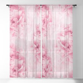 Light Red Peonies Dream #1 #floral #decor #art #society6 Sheer Curtain