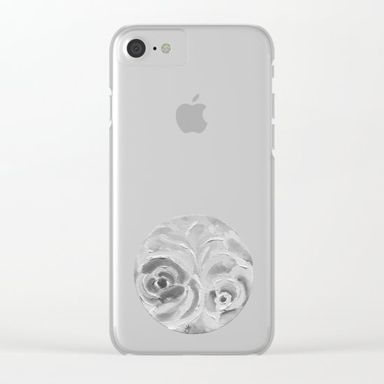 Find the Peach Plum Roses In the Night Clear iPhone Case