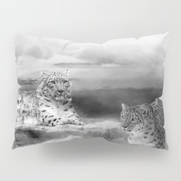 Snow Leopards In Peace Pillow Sham