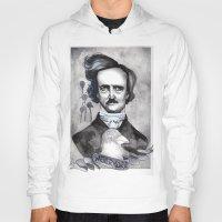 edgar allan poe Hoodies featuring Edgar Allan Poe by JsuauG