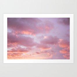Unicorn Sunset Peach Skyscape Photography Art Print