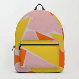 Abstract mosaic pink and yellow Backpack