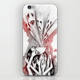 We're not belong here iPhone Skin