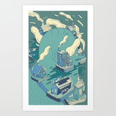 Surrounded Art Print