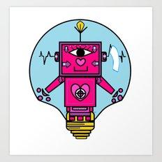 smart robot Art Print