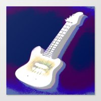 guitar Canvas Prints featuring Guitar by Vitta
