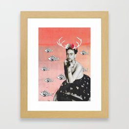 The Deer and the Fish Framed Art Print