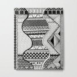 Wavy Geometric Patterns Metal Print
