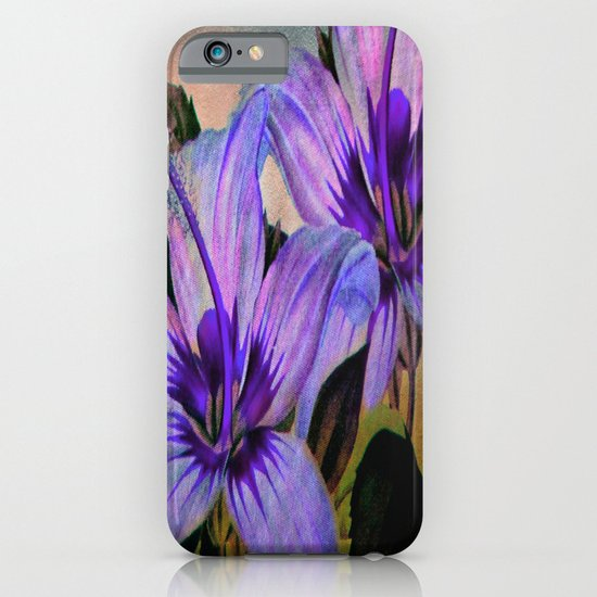 Vintage Painted Lavender Lily iPhone & iPod Case