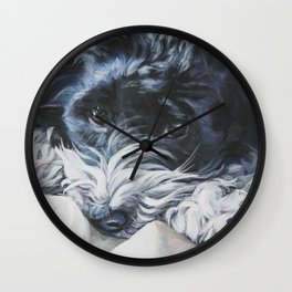 Havanese Dog Art Portrait from an original painting by L.A.Shepard Wall Clock
