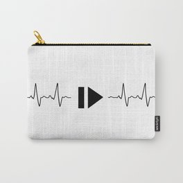 Music and heart pulse Carry-All Pouch