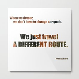 Different Route Metal Print