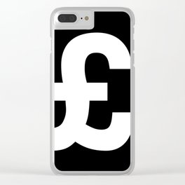 Pound Sign (White & Black) Clear iPhone Case