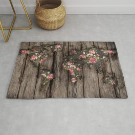 Wood Flowers Mapamundi Rug