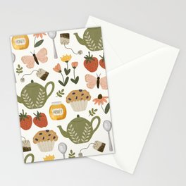 Afternoon Tea Time in the Garden Stationery Cards