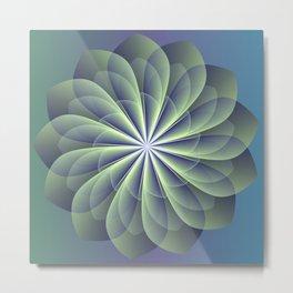 Unfolded petals, floral fractal design Metal Print