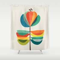 whimsical Shower Curtains featuring Whimsical Bloom by Picomodi