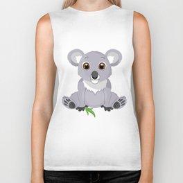 Cute Little Koala Bear Biker Tank
