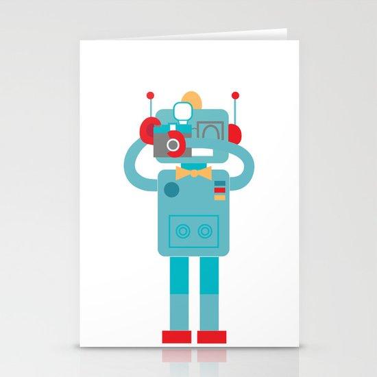 Robot loves Diana Stationery Cards