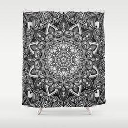 Black and white mandala Shower Curtain