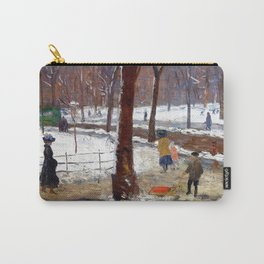 Washington Square, Winter - William James Glackens Carry-All Pouch