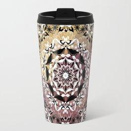 ELEGANT BLACK AND WHITE WATERCOLOR MANDALA Travel Mug