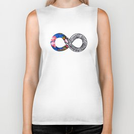 The Sum of Zero Divided by Zero Times Zero Biker Tank