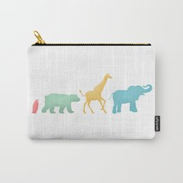Baby Animal Silhouettes Carry-All Pouch