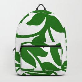 PALM LEAF VINE SWIRL IN GREEN AND WHITE Backpack