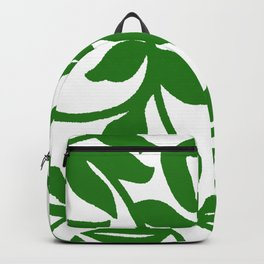 PALM LEAF VINE SWIRL IN GREEN AND WHITE Backpack
