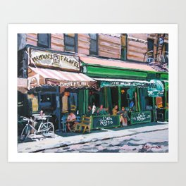 Falafel on MacDougal Art Print