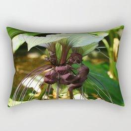 White Bat Flower Rectangular Pillow