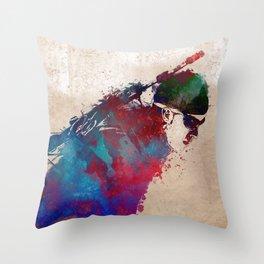 Biathlon sport art 1 #biathlon #sport Throw Pillow