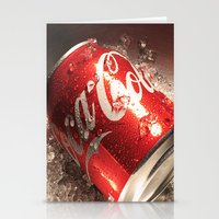 coca cola Stationery Cards featuring Coca Cola by MarianaManina