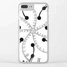 Clock Flower Clear iPhone Case