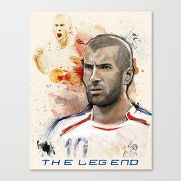 The Legend - Zidane, FIFA Stars Canvas Print